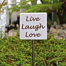 Live Laugh Love Miniature Sign ~ Fairy Garden ~ Dolls House ~  handmade