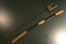 ANTIQUE EARLY BRITISH 1822 PATTERN INFANTRY OFFICER'S SWORD GEORGE IV CYPHER