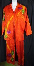 Shivani Pants Shirt Jacket Vtg Outfit Set Tropical India Artsy 70s 80s 1 Sz