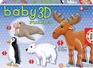 Arctic Animals Baby 3D puzzles Educa
