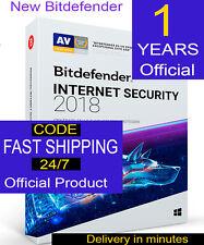 Bitdefender Internet Security 2018  3 PCS 1 YEAR DIGITAL CODE ORIGINAL