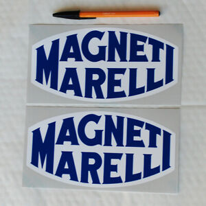 Magneti Marelli stickers decals 200mm wide 1 pair Motor Race Rally Fiat Lancia
