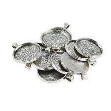 10 Stücke Leere Runde Lünette Basis für DIY 30mm Cabochon Halskette Anhänger