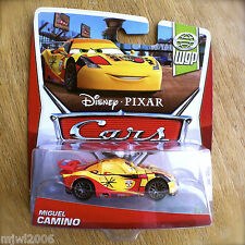 Disney PIXAR Cars MIGUEL CAMINO on 2013 WGP WORLD GRAND PRIX THEME diecast 7/17