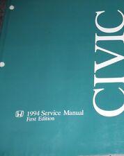 1994 HONDA CIVIC Service Shop Repair Manual OEM 94 FACTORY DEALERSHIP 94  USED X