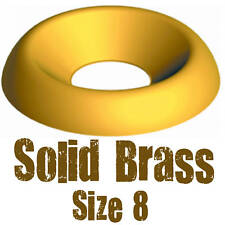 100 PACK SOLID BRASS SCREW CUP WASHER - FOR 8 GAUGE BRASS SCREWS, 8g