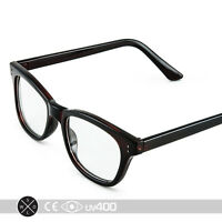 Deep Brown Vintage Cat Eye Clear Glasses Sunglasses High Fashion Stylish S136