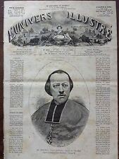 L'UNIVERS ILLUSTRE 1880 N 1317 Mgr FREPPEL, EVEQUE D'ANGERS, DEPUTE DU FINISTERE