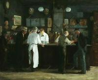 McSorley's Bar 1912 John Sloan Oil Painting Hand-Painted Art on Canvas 30x40