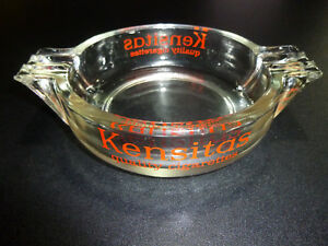 Vintage KENSITAS ASHTRAY Cig Brand Advertising Tobacciana Smoking Pub Bar