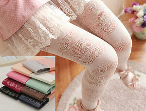 Ladies Romantic Japanese Lolita Soft Fishnet Open Mesh Lace Tights