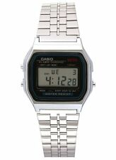 Casio Digital Fashion Watch E-Data-Bank Silver Mens A159W-N1