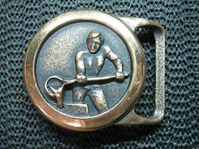 TECH ETHER FOUNDRY BELT BUCKLE! VINTAGE! RARE! BLACKSMITH! IRON WORKER! 1978!