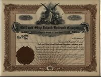 Gulf & Ship Island Railroad Company Stock Certificate Gulfport Mississippi