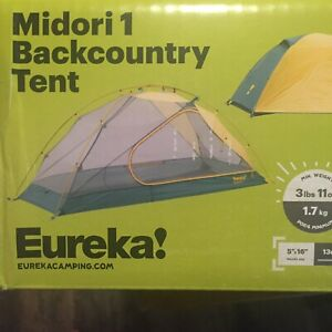 Eureka Midori 1 Person Tent, Backpacking Tent Backpacking Tent New
