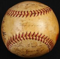 1950 Yankees World Series Champs Multi-Signed Baseball Signed by (20) HOT!!PSA