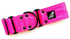 WATERPROOF MARTINGALE DOG COLLAR HOT PINK STRONG TOUGH DURABLE STINKPROOF