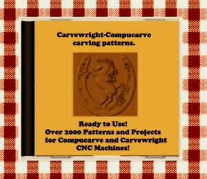 NEW CD, USB with Over 2000 Sears Craftsman Compucarve and Carvewright Patterns !