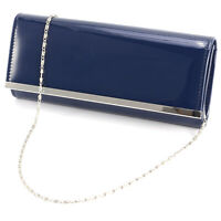 Women Retro Patent Designed Wedding Bridal Prom Clutch Bag Evening Handbag