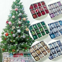 12Pcs Christmas Tree Ball Baubles Ornament Decor Party Xmas Hanging Decoration