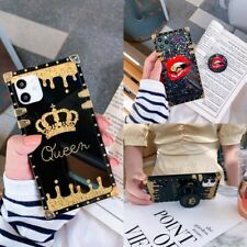 For Samsung A32 A31 A21 A12 A11 A71 A51 Luxury Fashion Crown Square Case Cover