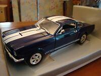 1/18 Ford Mustang 350 GT V8 Rare Blue White Stripes