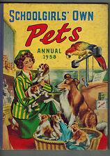 SCHOOLGIRLS' OWN PETS ANNUAL 1958
