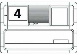 Siedle 200015484-00 Rueckstellfeder 15484 f. Einwurfklappe BE513-0