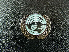 UN United Nations Blue Gold Plated lapel Badge