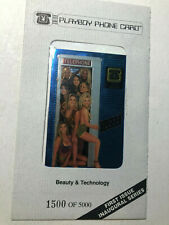 Playboy Phone Card, First Issue Inaugural Series 1500 of 5000 Sealed
