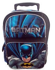 "BATMAN 16"" Large Roller Backpack Wheels backpack NEW Liensed"
