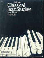 Jim Progris ~ CLASSICAL JAZZ STUDIES for Piano