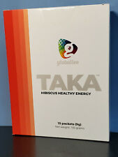 TAKA Hibiscus Healthy Energy Drink 15 Packet Box - Retail $45 Globallee Exp 1/22