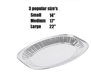 New Oval Aluminium Foil Tray Buffet Disposable Home Party Wedding Food Platters
