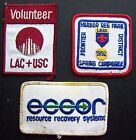 LAC & USC VOLUNTEER  ECCOR RESOURCE RECOVERY SYSTEM LAAC HARBOR PARK 3 PATCH LOT