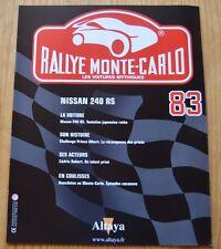 Rallye de Monte-Carlo, les voitures mythiques, Altaya, n°83, Nissan 240 RS 1984