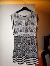 Dorothy Perkins black/white dress/tunic size 10