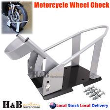 Heavy Duty Motorcycle Motor Motorbike Stand Wheel Chock Self Lock 3 Position
