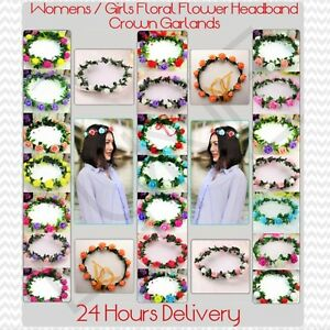 UK Ladies Floral Flower Headband Crown Garland For Any Occasions 24 Hrs Delivery