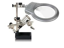 Velleman VTHH3 HELPING HAND WITH MAGNIFIER, LED LIGHT AND SOLDERING STAND