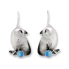 Enamel Sterling Silver Plate Gift Box Zarah Zarlite Siamese Cat Pierced Earrings