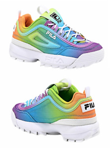 Fila Disruptor II Women's Size 7 Platform Shoes [Tie Dye] Pride Rainbow New