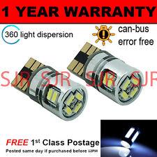 2x W5W T10 501 Canbus Nessun Errore Bianco 10 SMD LAMPADE LUCI POSIZIONE LED
