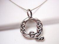 """Letter """"Q"""" Celtic Design Necklace 925 Sterling Silver Corona Sun Jewelry Q"""