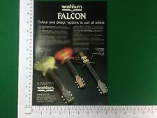 Washburn Falcon Guitare électrique pub 1981 Gold Top Cherry Sunburst palissandre