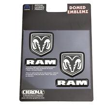 Original Mopar dodge ram fuente logotipo cromo domed emblema pegatinas decal sticker