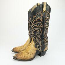 Larry Mahan Mens Vintage Snake Skin Leather Cowboy Boots Size 7