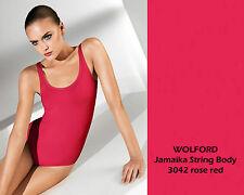 Wolford Jamaïque String Body * S * Rose Red *... douce coton sur la peau