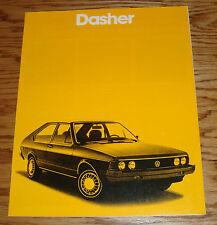 Original 1980 Volkswagen VW Dasher Sales Brochure 80