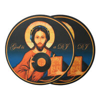Glowtronics - God Is A DJ Non Glow Slipmat Blue